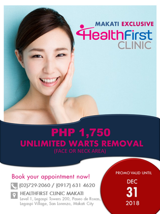 HealthFirst Makati Exclusive: Unlimited Wart Removal Promo