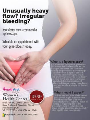 HealthFirst Clinic Women's Health Center: HYSTEROSCOPY at 10% OFF