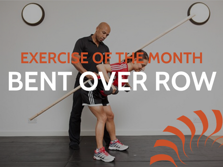 Exercise of the month - Bent over row with Danny Johnson