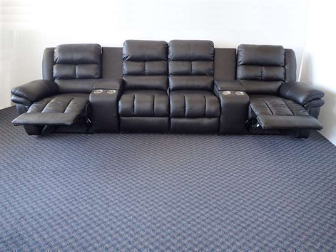 Houdini 4 Recliner Leather Theatre Lounge