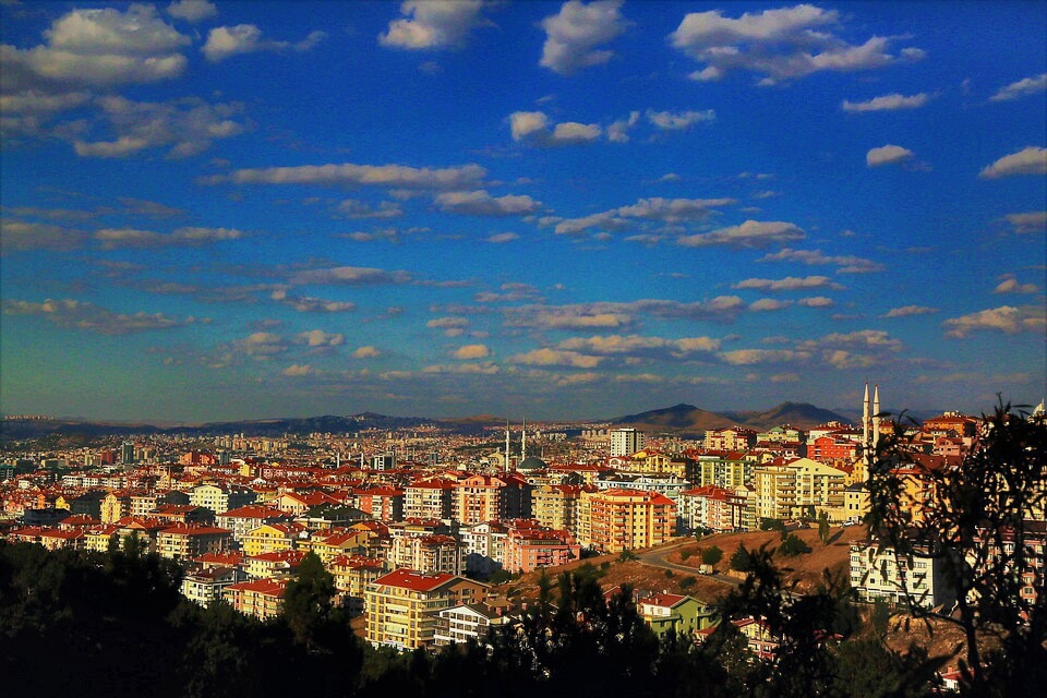 Ankara, the capital of Turkey! It's covered with convention, markets, and steep cobblestoned roads.