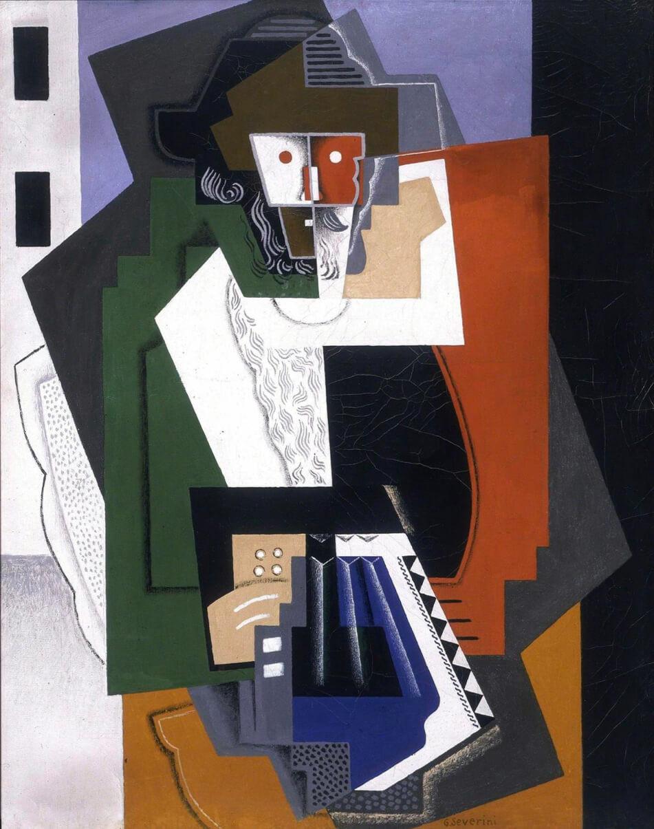 Gino Severini, 1919, Bohémien Jouant de L'Accordéon (The Accordion Player), Museo del Novecento, Milan
