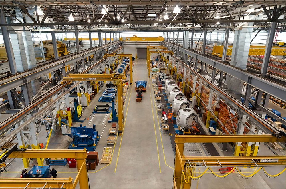 production floor view taken from the ceiling