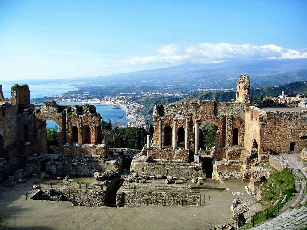 Ancient Theatre Taormina - it is frequently used for operatic and theatrical performances and for concerts.