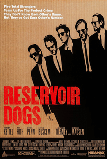 Reservoir Dogs 1992 movie poster