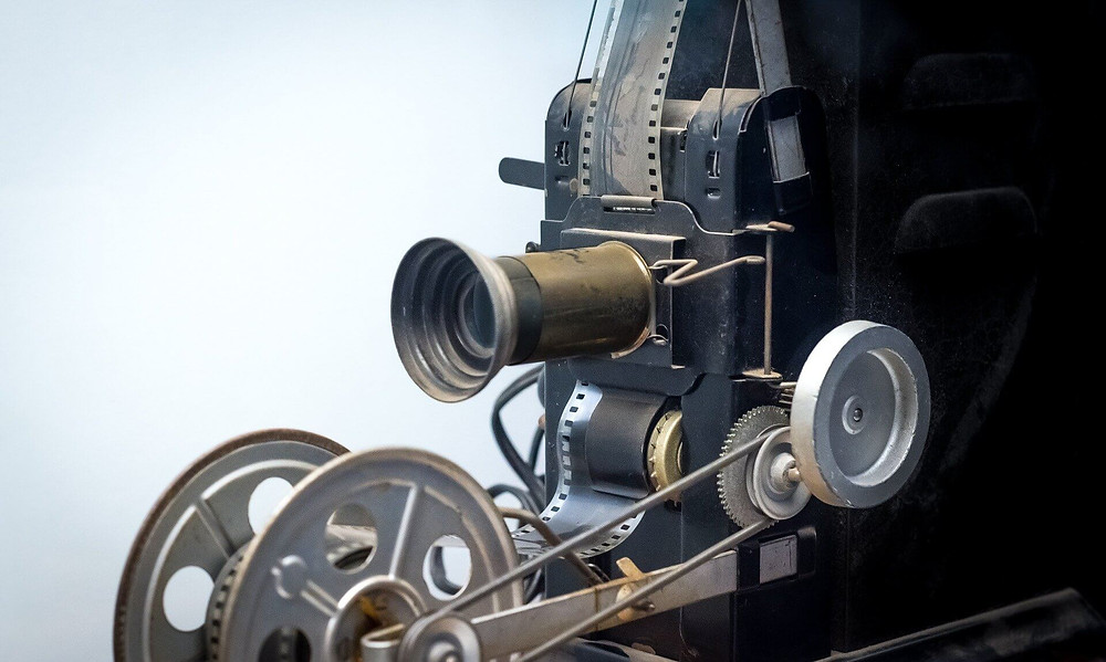 vintage theater movie projector