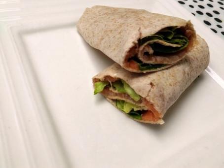 Lunchwrap met gerookte zalm