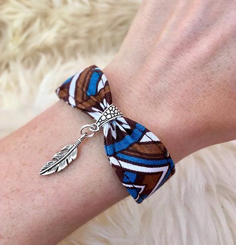 Bracelet en tissu - modèle Cheyenne