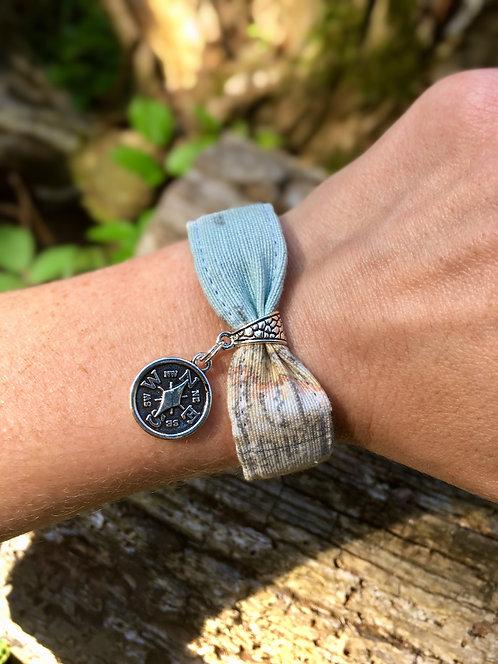 Bracelet en tissu - modèle Aventure