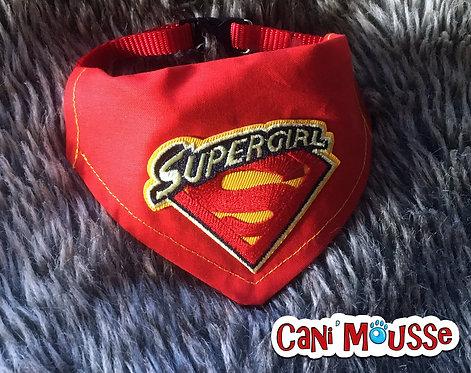 Collier bandana pour chien Supergirl