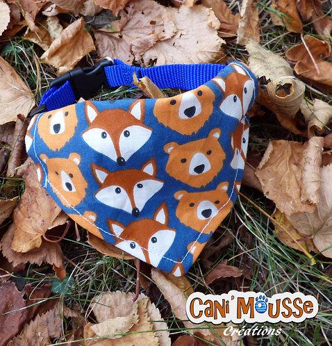 Collier bandana pour chien animaux de la forêt