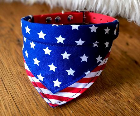 Collier bandana pour chien - modèle America