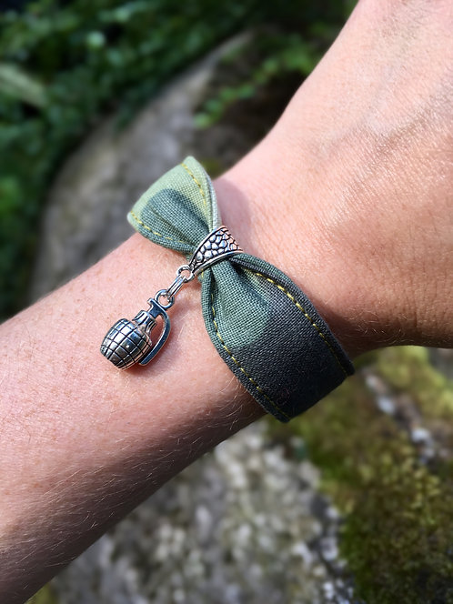 Bracelet en tissu - modèle Army
