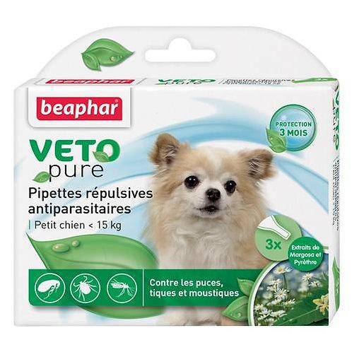 Pipettes anti-parasitaire Beaphar chiens de moins de 15kg