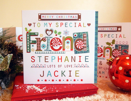 Special friend or friends christmas card made personal m4hsunfo