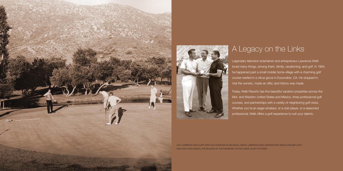 Welk Resorts Golf Experience Brochure