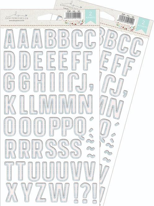 Alfabeto Chipboard Adesivado Homemade Love