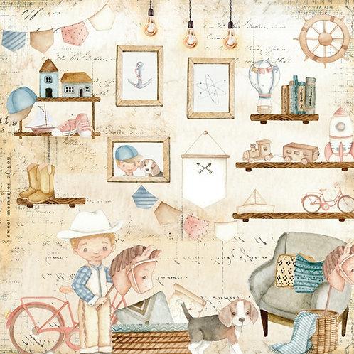 Kit de 10 Folhas Mundo da Imaginação
