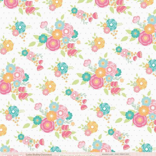 Folha para Scrapbooking - Flores para Cecília