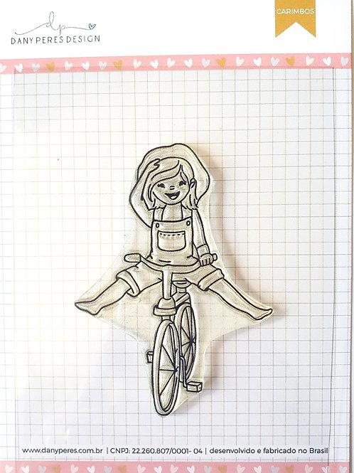 Kit com 3 Cartela com Carimbos Clear - Bicicleta