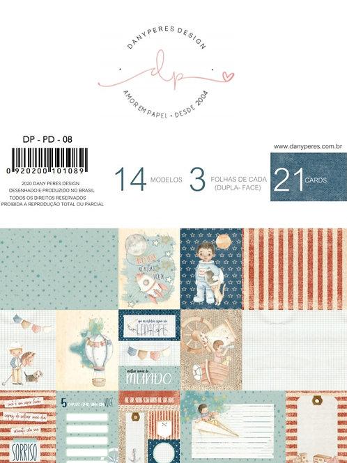 Kit de Blocos de Cards Coleção Pequenos Desbravadores - 03 Blocos