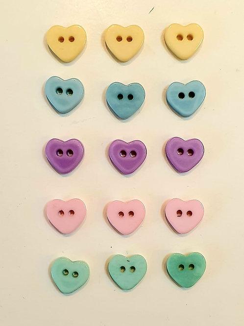 Botões Coração