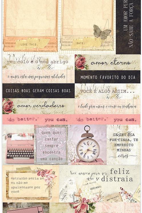 Adesivo Poesia- Journaling - 3 Unidades