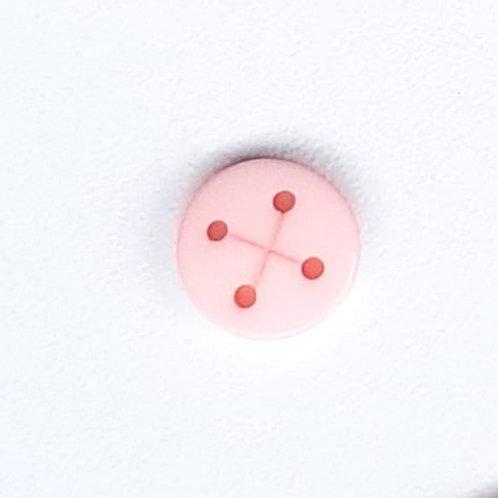 """Botão """"X"""" rosa bebê"""