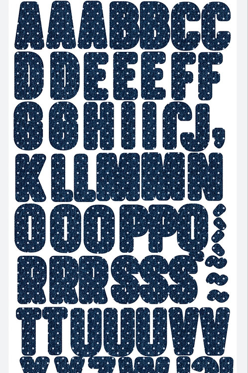 Alfabeto em Chipboard adesivado - Relicário