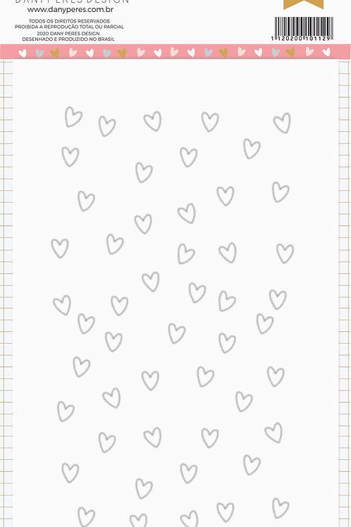 Kit com 3 Placas de Stencil Chuva de Amor