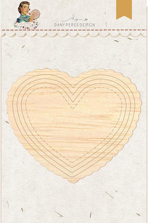 Moldura Homemade Coração