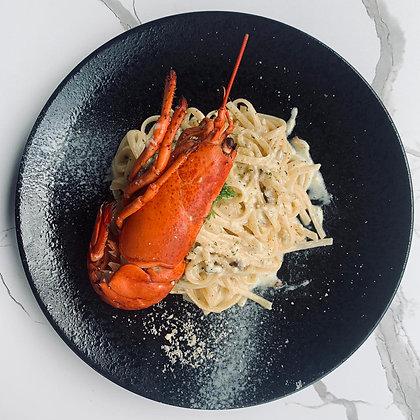 E - Half Lobster with Creamy Linguine