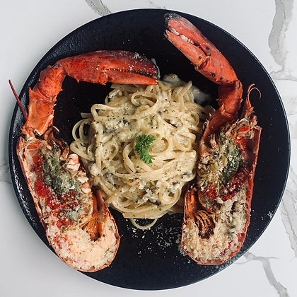 B - Full Lobster with Creamy Linguine