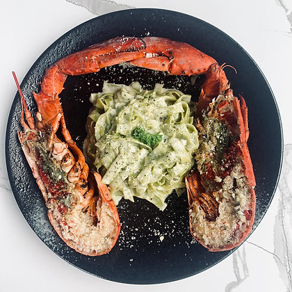 C - Full Lobster with Spinach Pasta