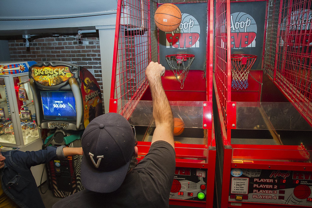 Downtown Denver Bar with Games and Arcades including Pop a Shot Basketball Arcades