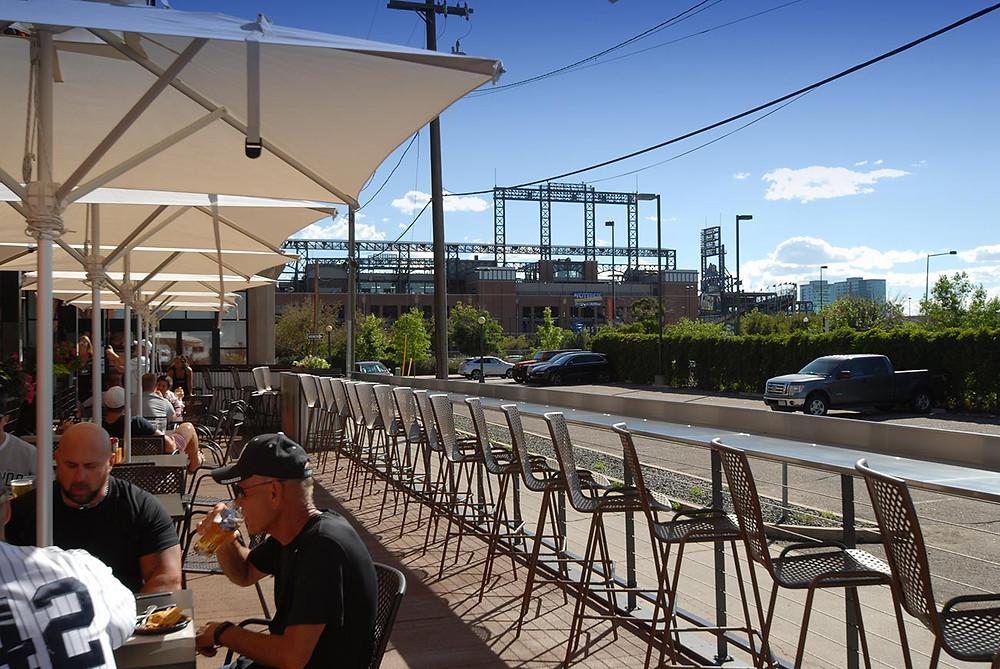Fun Restaurants in Denver - Blake Street Tavern has the best patio in Denver!