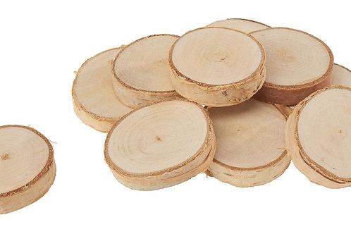 10 koščkov debla fi 2,5-3,5 cm