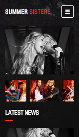 Band website templates – Muzikale artiesten