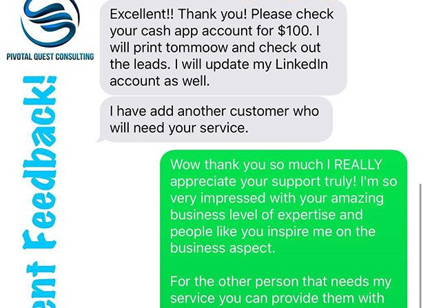 I get tons of client feedback but share