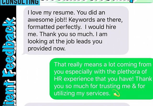 This client feedback was so exciting for