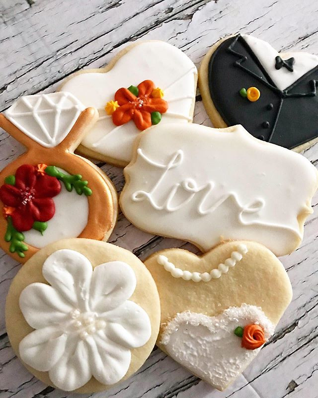 Fall themed wedding cookie set 🍂 186 co