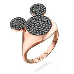 CHEN SAHAR - MyMouse Ring in 18k rose gold & black diamonds.jpg