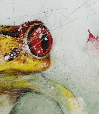 Frog, inside painted snuff bottle by Li Yingtao
