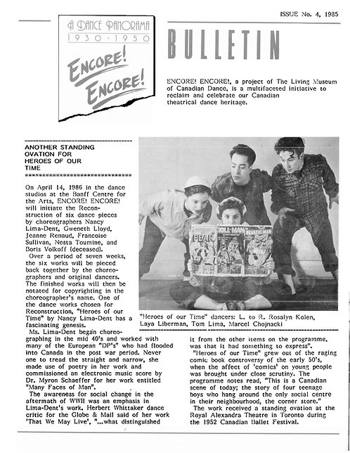 Encore! Encore! Bulletin - Issue 4, 1985