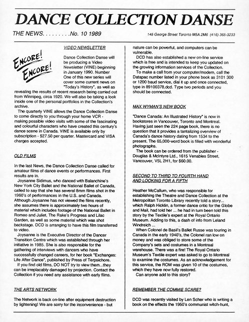 DCD The News - Issue 10, 1989