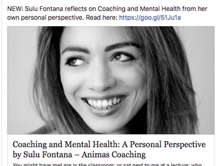 Coaching and mental health: sharing my story