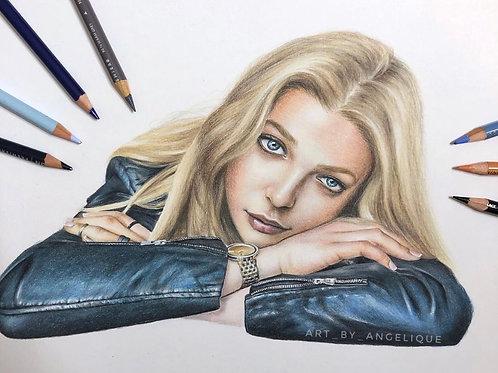 Leather Jacket Girl | ORIGINAL Drawing