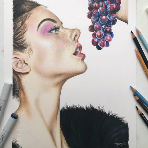 Wine Girl | ORIGINAL Portrait