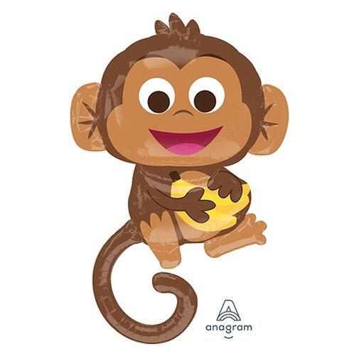"36"" Happy Monkey Helium Balloon - z88"