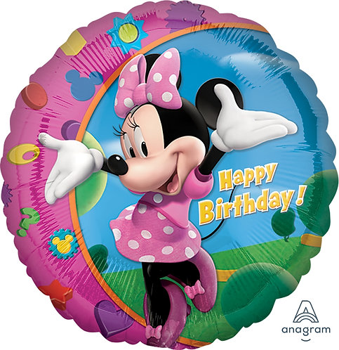 """18"""" Minnie Mouse HBD Helium Balloon - m13"""